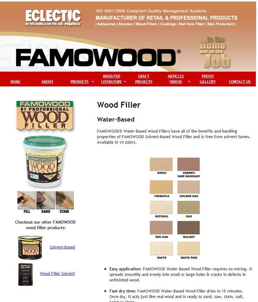 Preventing wood filler buldge - Canadian Woodworking and Home ...