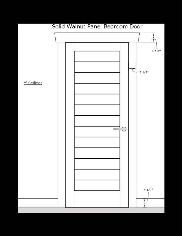 Contemporary Bedroom Door Trim And Baseboard