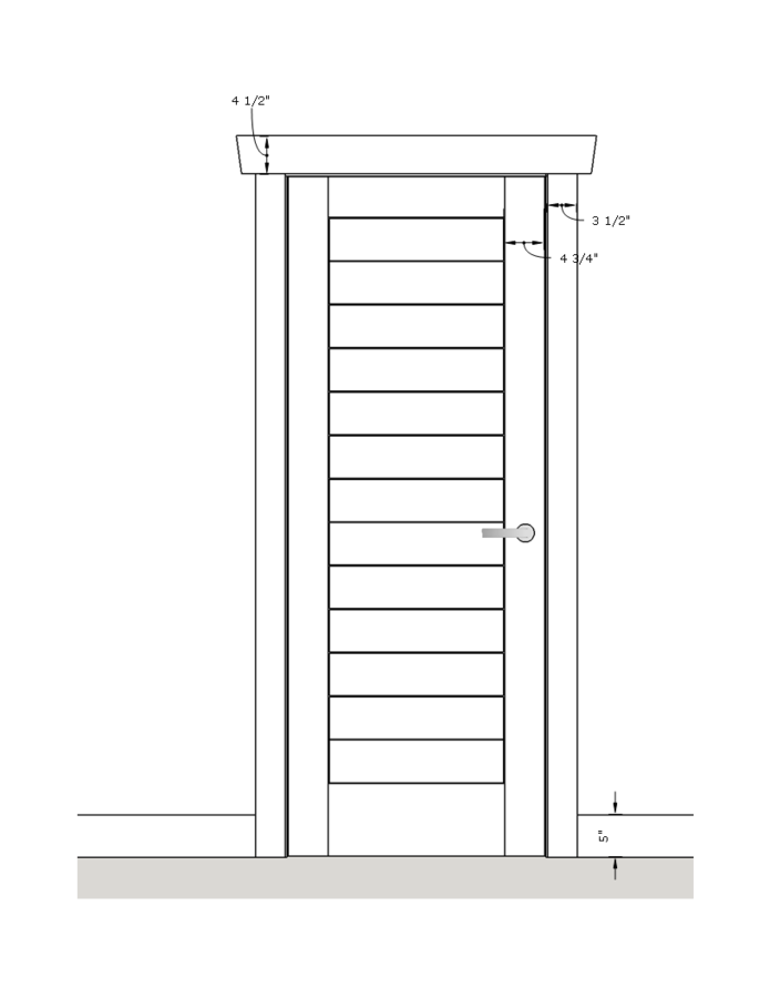 Click Image For Larger Version Name Solid Walnut Panel Bedroom Door