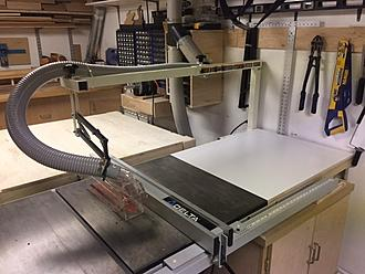 Installation of biesemeyer table saw blade guard system canadian click image for larger version name tabel saw guardg views 1 size greentooth