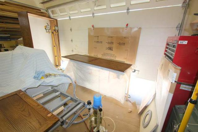 Hanging Cabinet Doors To Spray Finish Canadian Woodworking And