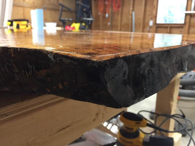 Brilliant Epoxy Live Edge W Uneven Surface Canadian Woodworking And Download Free Architecture Designs Licukmadebymaigaardcom