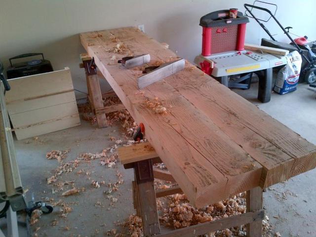 Astounding Douglas Fir Slab Workbench Top Question Canadian Dailytribune Chair Design For Home Dailytribuneorg